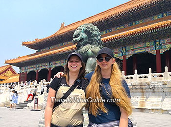 Our clients at the Forbidden City