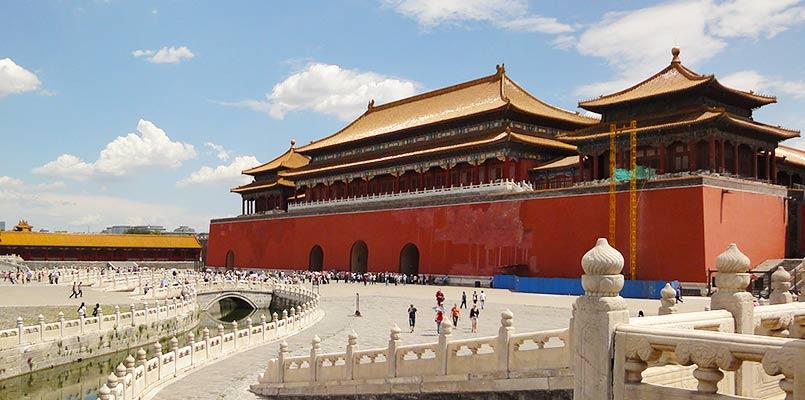 A splendid view of the Forbidden City