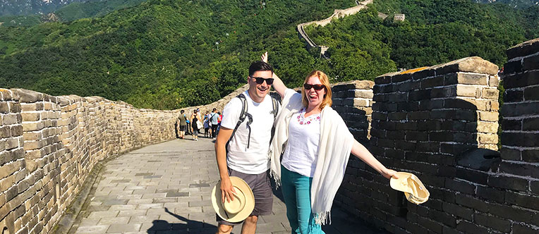 Enjoy hiking on the Great Wall