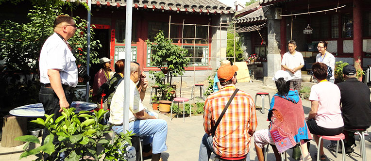 Learn about Hutong culture in a traditional family courtyard