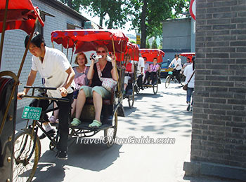 Rickshaw riding in old Hutongs