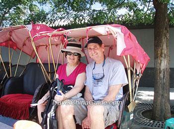 Rickshaw riding during Hutong tour