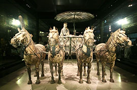 Bronze Chariot and Horses