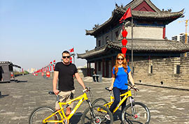 Cycling on the City Wall, Xi'an