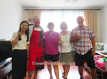 Our clients visiting a local family in Xi'an