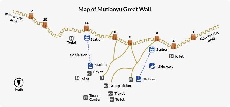 Map of Mutianyu Great Wall