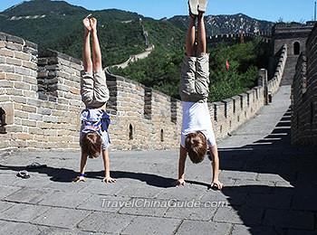 Have fun at Mutianyu Great Wall