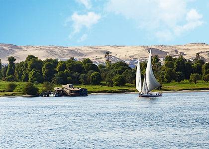 Beautiful scenery along Nile River