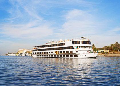 Enjoy a Nile River dinner cruise