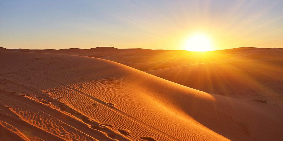Enjoy the stunning sunset view at Sahara Desert, Hurghada