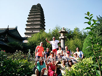 Our clients at the Small Wild Goose Pagoda