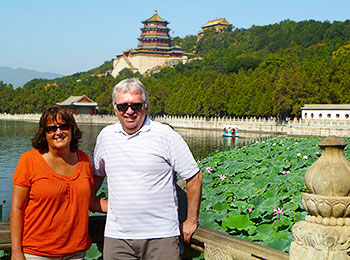 Our guests at the Summer Palace