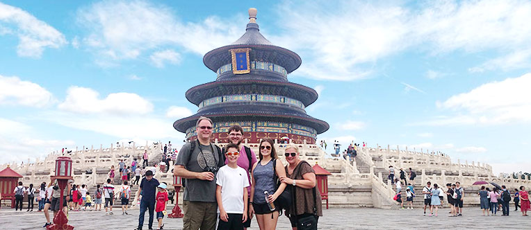 Marvel at the imposing architectures at the Temple of Heaven