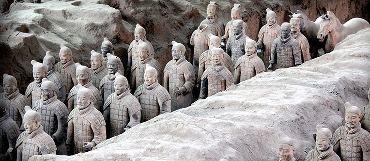 The life-sized terracotta warriors of 2,200 years ago