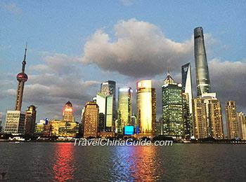 Shanghai Bund at sunset