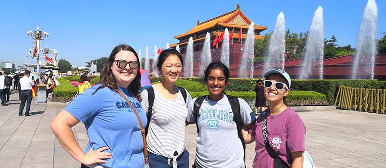 Take a pleasant walk around the Tiananmen Square