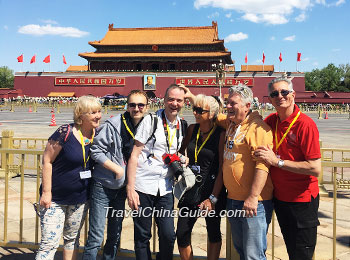 Our clients at Tiananmen Square