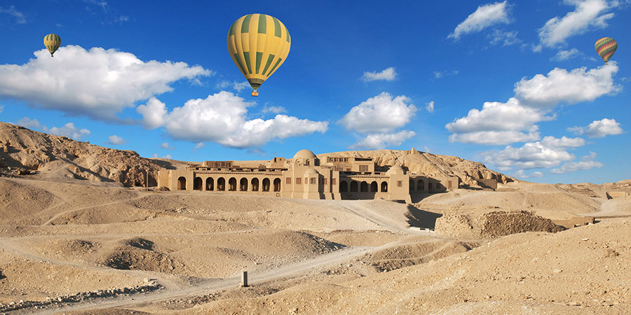 Explore the royal mausoleums at the Valley of the Kings