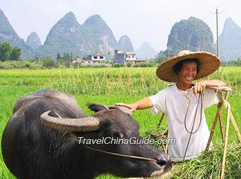 The rural life in Yangshuo