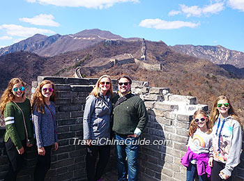 Our clients at the Great Wall