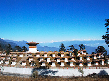 Overlooking the Himalayas from Dochula Pass