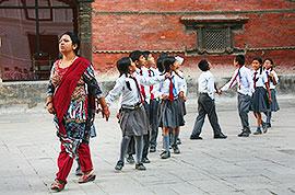 Pupils in Kathmandu